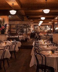 Interior view of Lavo Restaurant NYC