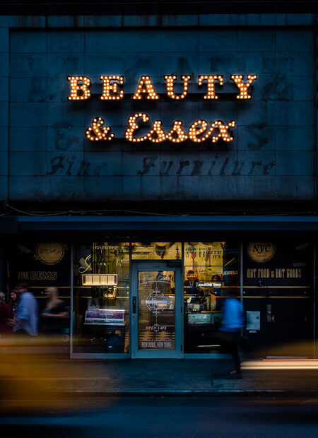 Exterior image of Beauty & Essex in New York