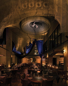 Interior of Cathedral Restaurant in New York