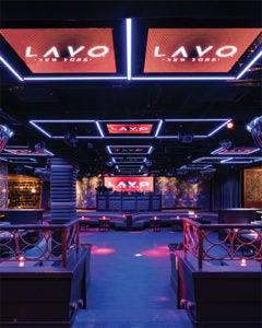Interior view of Lavo Nighclub NYC
