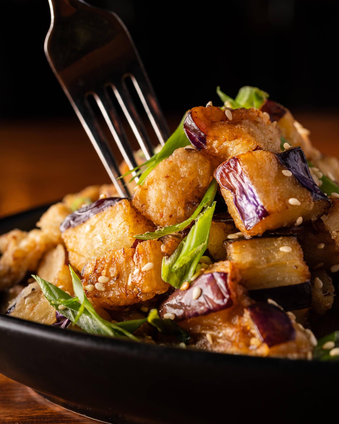 Miso Glazed Crispy Eggplant