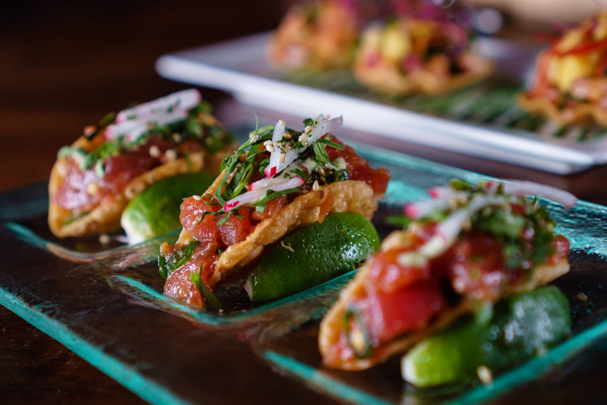 Tuna poke wonton tacos_Beauty & Essex_2