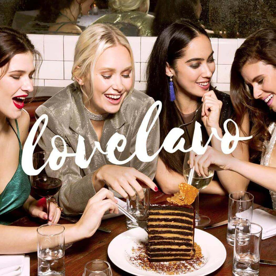 Women eating at a table at lavo las vegas