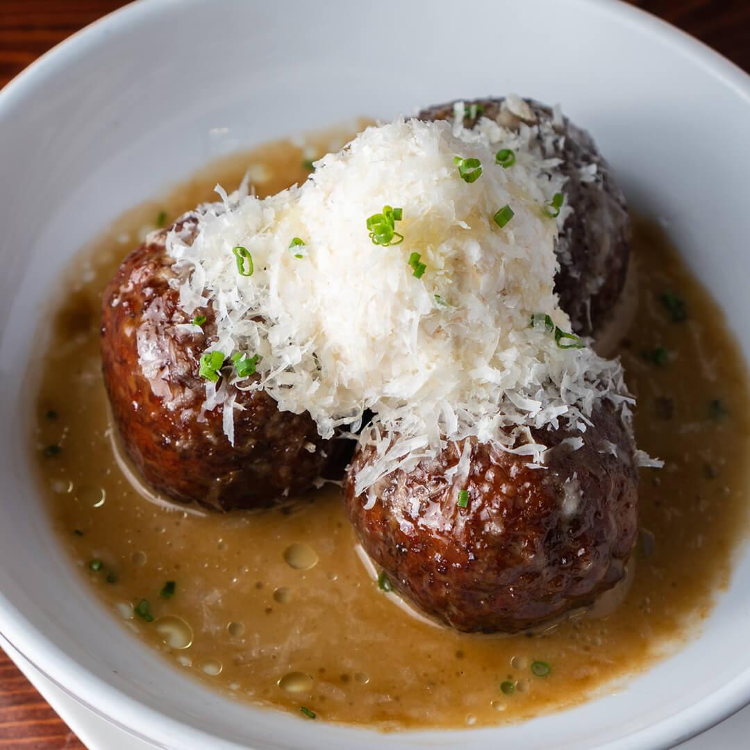 Chicken Meatballs and Creamy Polenta
