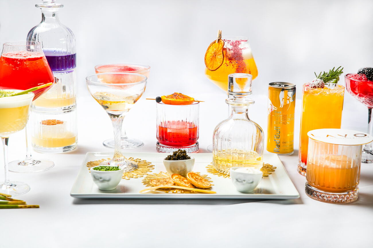 Cocktails on a Plater