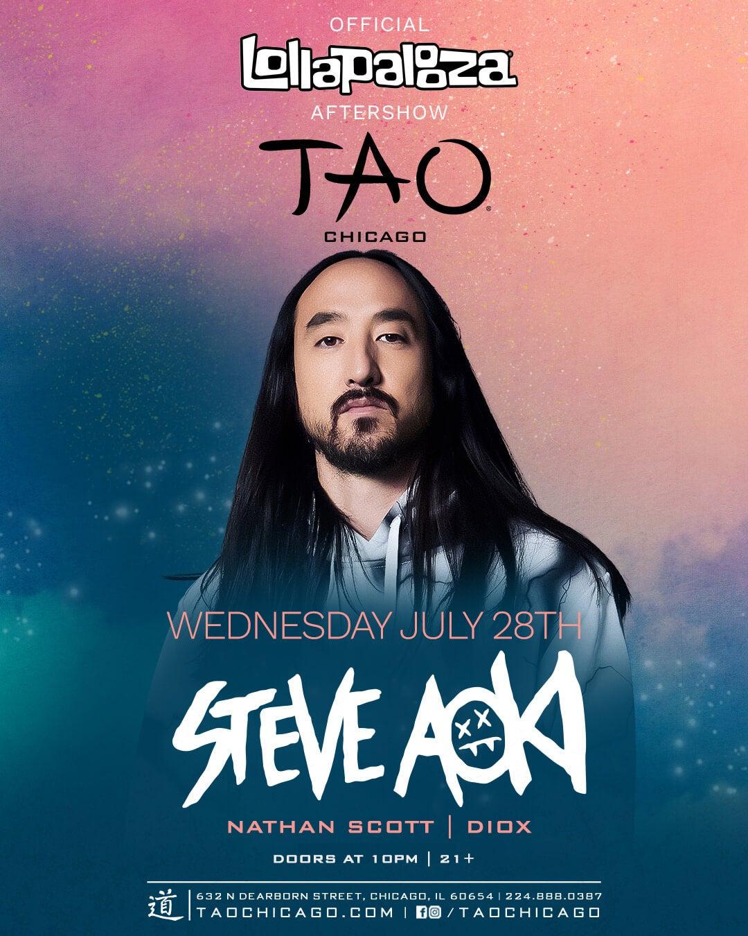 7/28/21 STEVE AOKI TAO Nightclub – Chicago