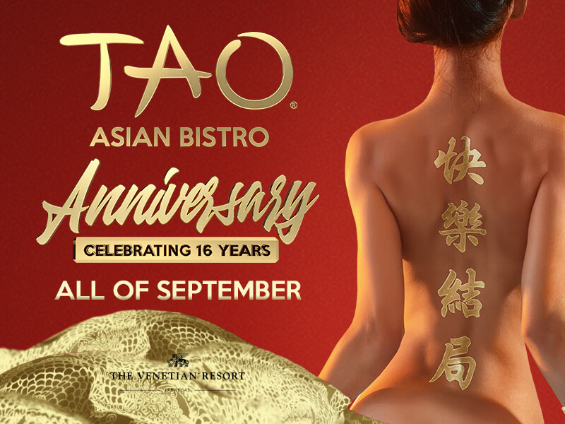 TAO Asian Bistro Las Vegas 16th Anniversary Popup